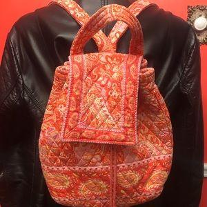 Vera Bradley orange/pink backpack